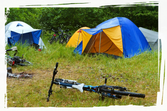 Tents and bicycles